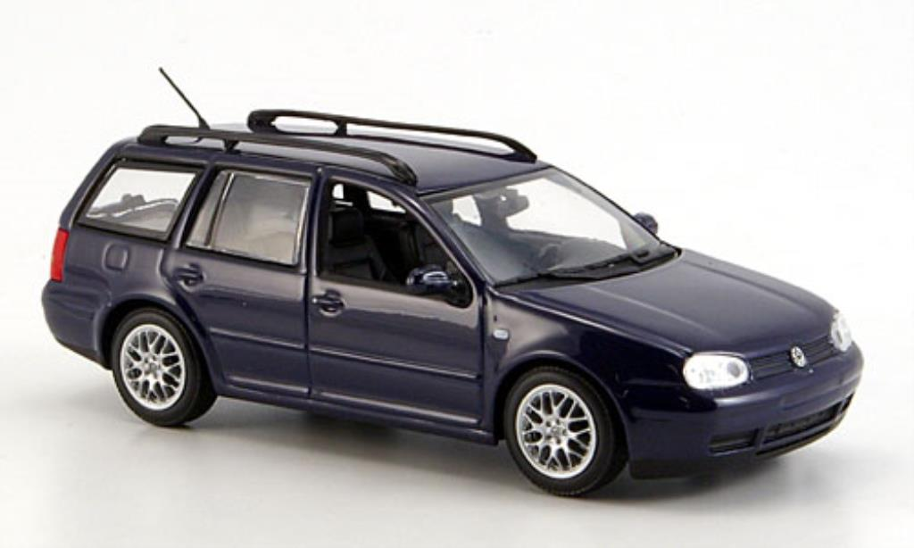 Volkswagen Golf IV 1/43 Minichamps Variant bleu 1999 diecast