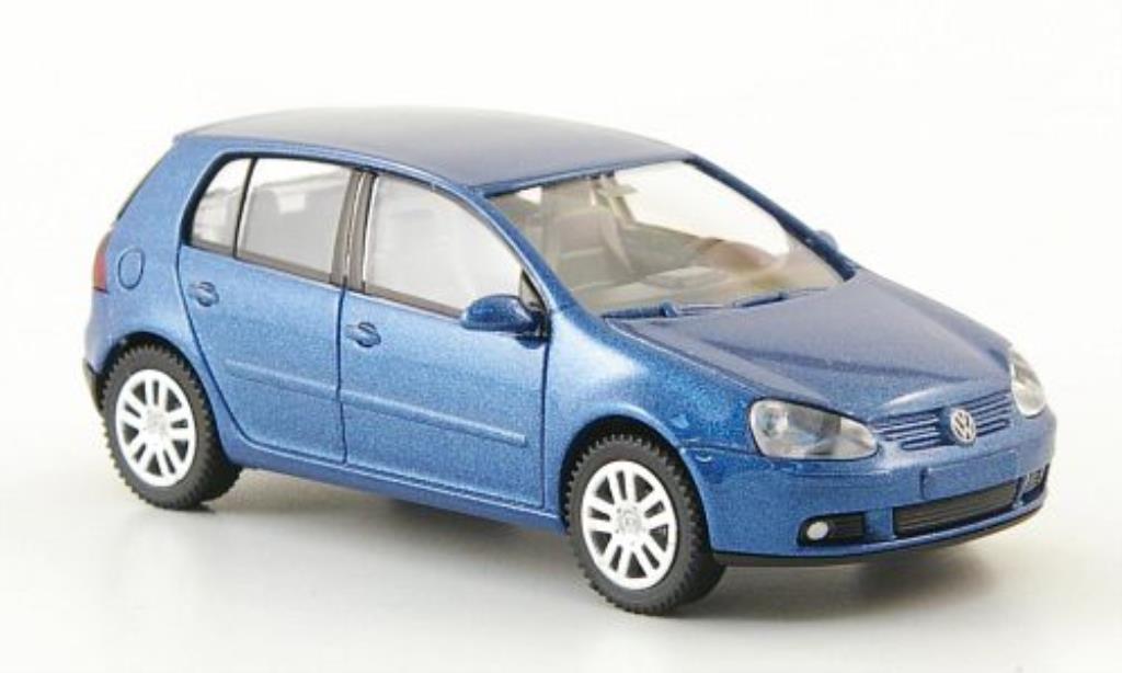 Volkswagen Golf V 1/87 Wiking bleu 5-Turer 2003 miniature