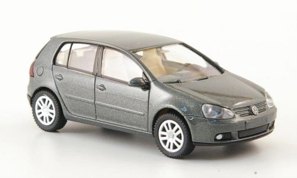 Volkswagen Golf V 1/87 Wiking grey-grun 5-Turer 2003 diecast model cars