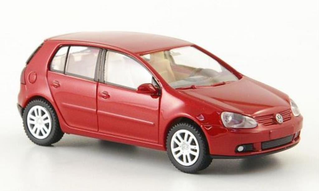 Volkswagen Golf V 1/87 Wiking red 5-Turer 2003 diecast