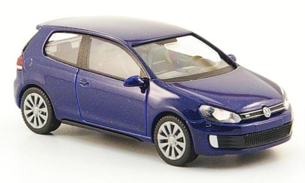 Volkswagen Golf VI 1/87 Wiking GTD bleu diecast