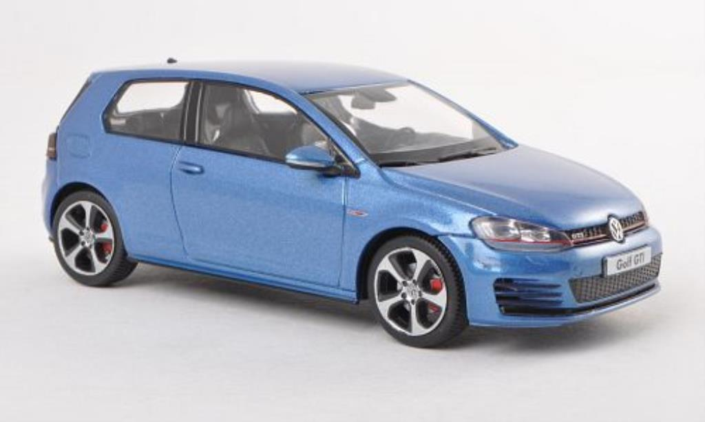 Volkswagen Golf VII 1/43 Herpa GTI bleu 3-Turer miniature