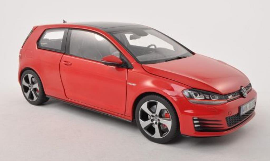 Volkswagen Golf VII 1/18 Norev GTI red 3-Turer diecast model cars