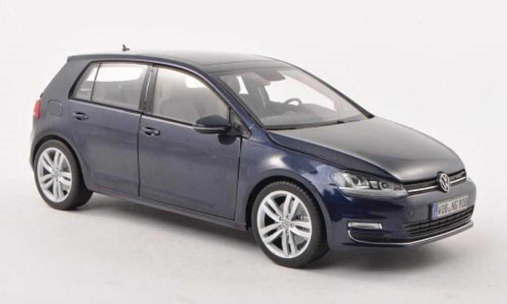 Volkswagen Golf VII 1/18 Norev bleu 5-Turer miniature
