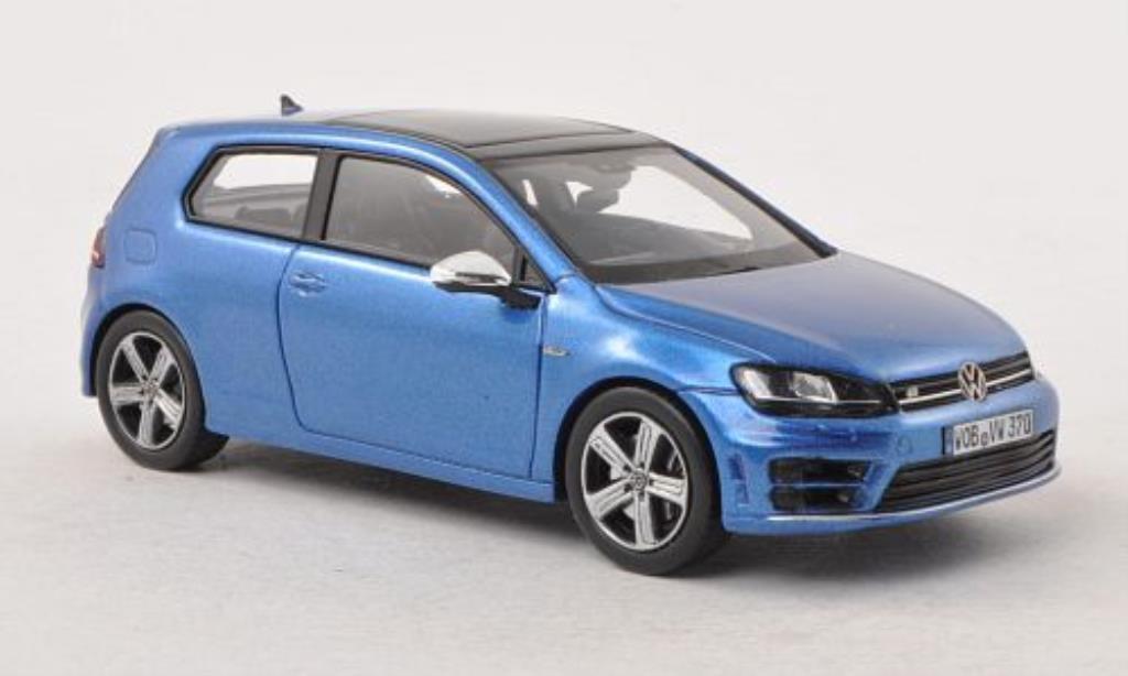 Volkswagen Golf VII 1/43 Spark R bleu 3-Turer 2013 miniature