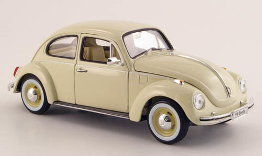 Volkswagen Kafer 1/24 Welly beige mit whitewandreifen 1972 diecast