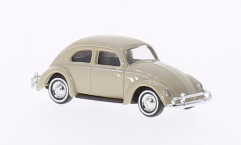 Volkswagen Kafer 1/87 Busch beige Ovalfenster Exportmodell diecast