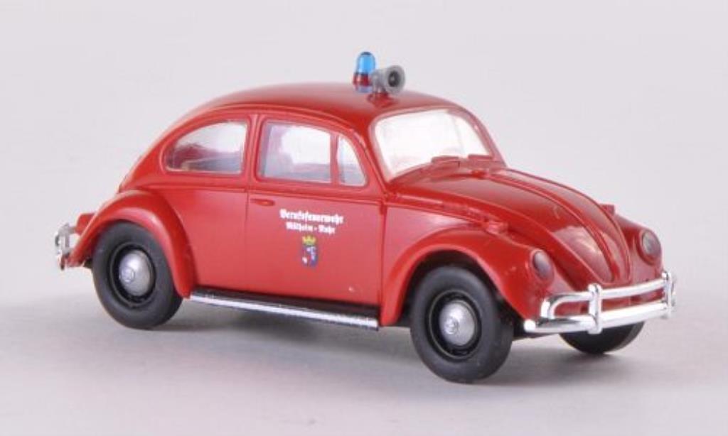 Volkswagen Kafer 1/87 Brekina Berufsfeuerwehr Mulheim/Ruhr diecast model cars