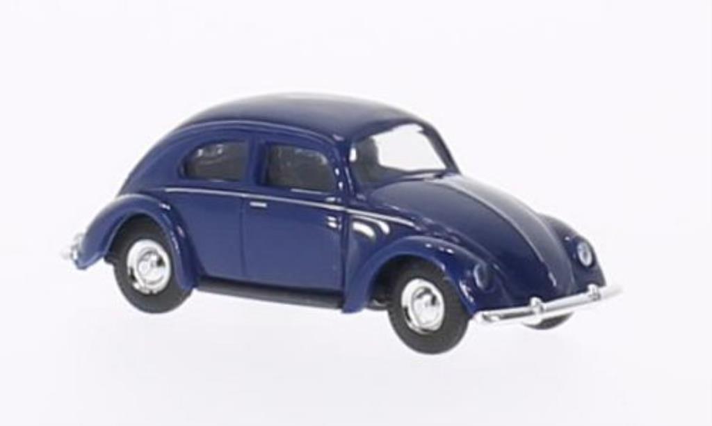 Volkswagen Kafer 1/87 Busch bleu Brezelfenster 1951 miniature