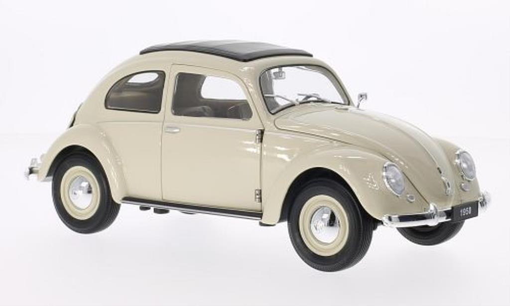 Volkswagen Kafer 1/18 Welly Brezelfenster beige 1950 miniature