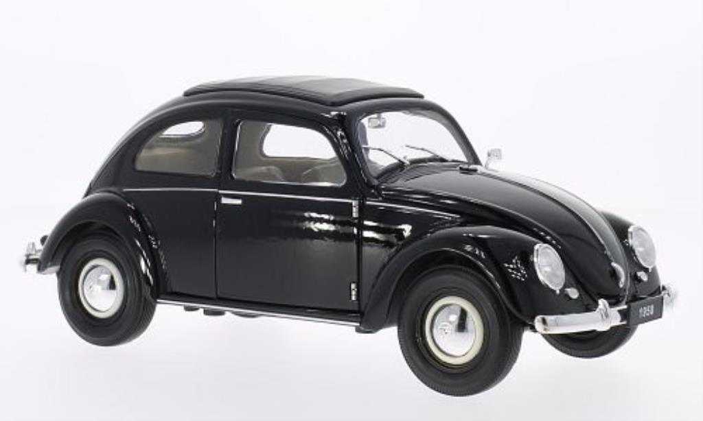 Volkswagen Kafer 1/18 Welly Brezelfenster noire 1950 miniature