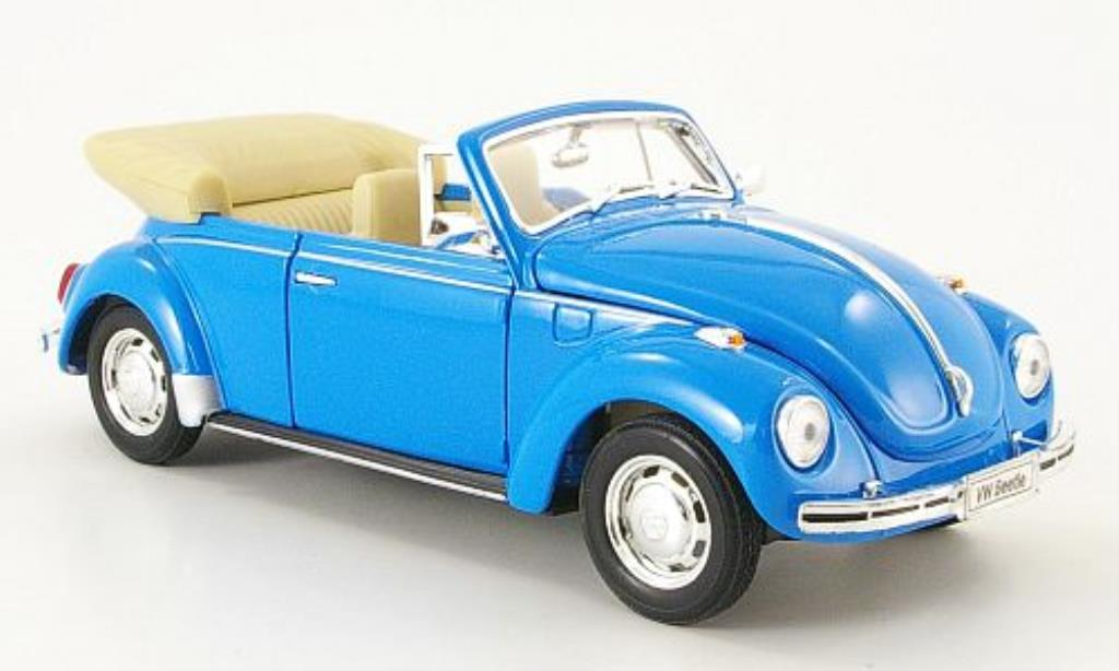 Volkswagen Kafer 1/24 Welly Cabriolet bleu offen 1959 miniature