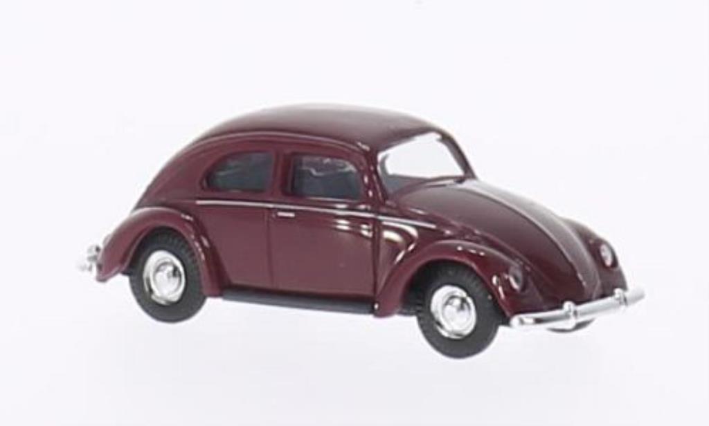 Volkswagen Kafer 1/87 Busch rouge Brezelfenster 1951 miniature