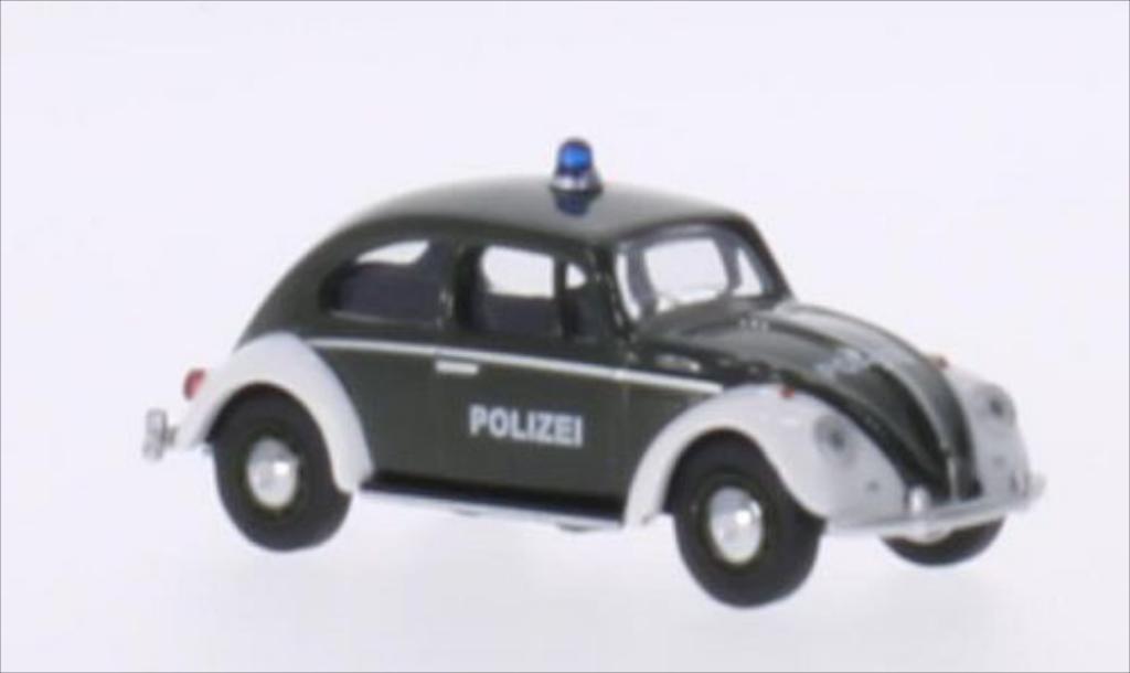 Volkswagen Kafer 1/64 Schuco verte/blanche Polizei miniature