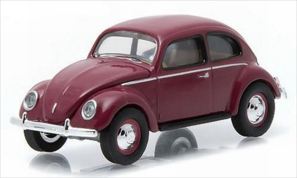 Volkswagen Kafer 1/64 Greenlight rouge 1951 miniature