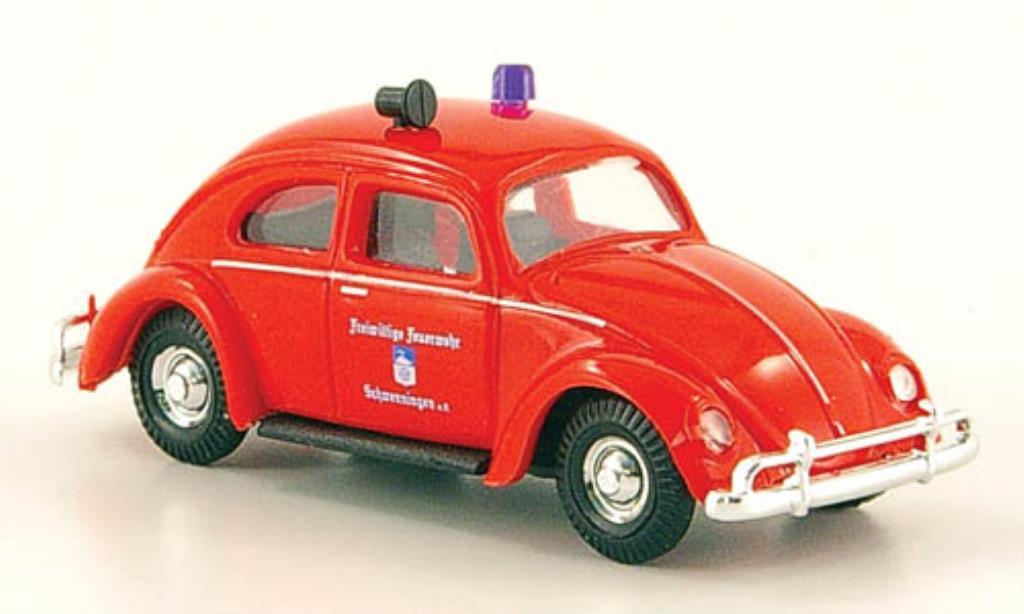 Volkswagen Kafer 1/87 Busch Freiwillige Feuerwehr Schwenningen miniatura