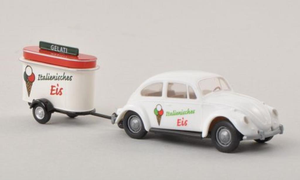 Volkswagen Kafer 1/87 Brekina Gelati - Italienisches Eis mit Verkaufsanhanger miniature