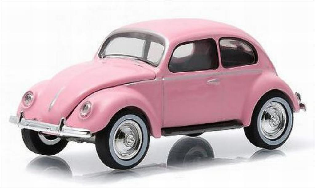 Volkswagen Kafer 1/64 Greenlight rose 1949 miniature