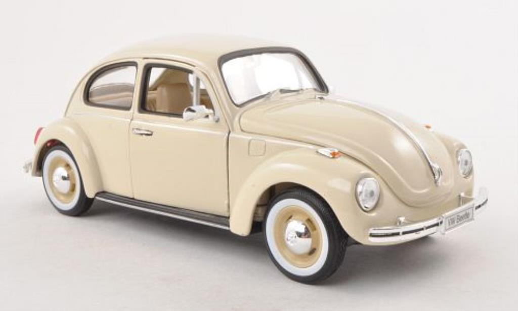 Volkswagen Kafer 1/24 Welly mit blanchewandreifen beige miniature