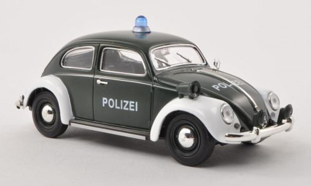 Volkswagen Kafer 1/32 Schuco Ovali Polizei verte/blanche miniature