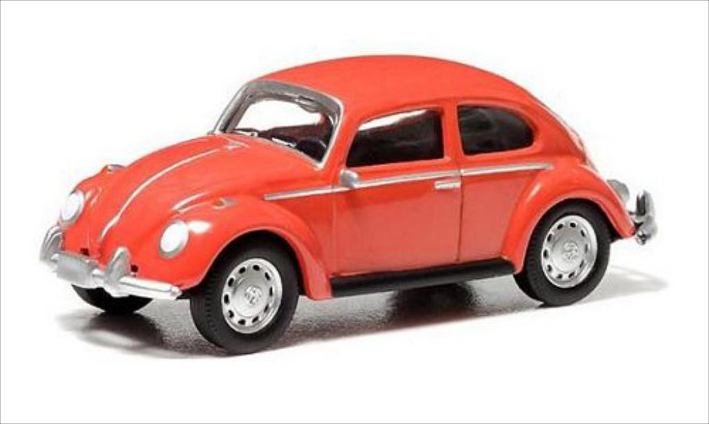 Volkswagen Kafer 1/64 Greenlight rouge 1967 miniature