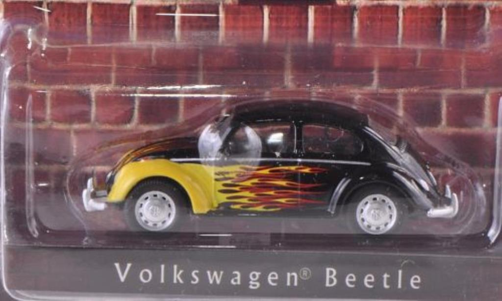 Volkswagen Kafer 1/64 Greenlight black mit Flammendekor diecast