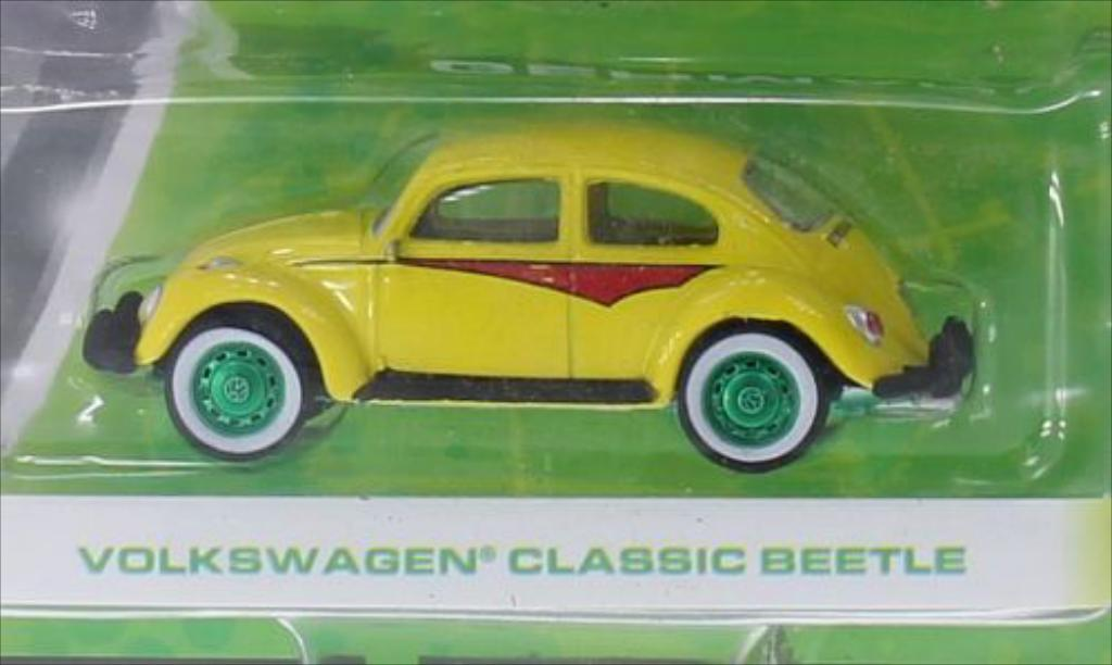Volkswagen Kafer 1/64 Greenlight Special Version yellow diecast