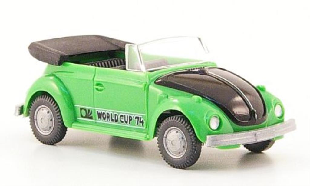 Volkswagen Kafer 1/87 Wiking World Cup Cabrio grun/nero 1974 modellino in miniatura