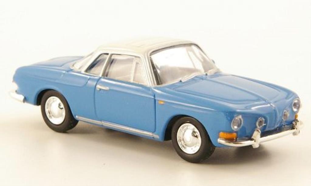 Volkswagen Karmann 1/87 Herpa Ghia II bleu/blanche miniature