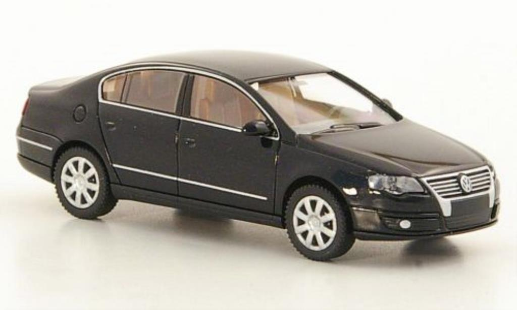 Volkswagen Passat 1/87 Wiking (B6) black 2005 diecast model cars