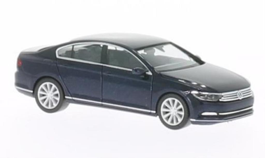 Volkswagen Passat 1/87 Herpa (B8) Limousine bleu 2014 diecast model cars