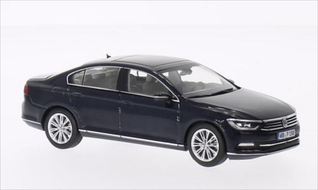 Volkswagen Passat 1/43 Herpa Limousine metallise bleu 2014 miniature