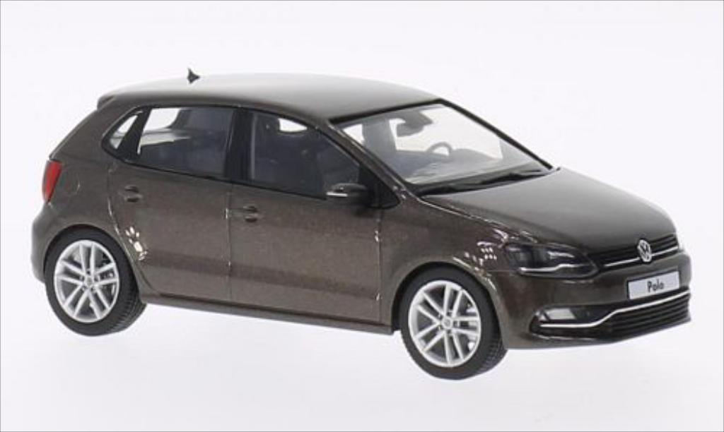 Volkswagen Polo 1/43 Herpa 5-turig Facelift metallise marron 2014 miniature
