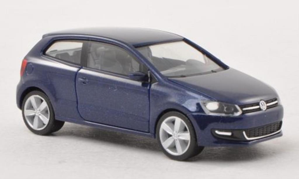 Volkswagen Polo 1/87 Herpa bleu 3-Turer diecast