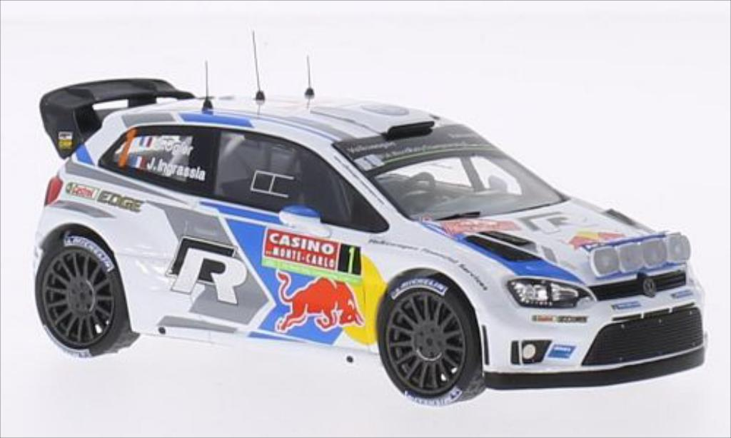 Volkswagen Polo 1/43 IXO R WRC No.1 Motorsport Red Bull Rallye WM Rally Monte Carlo 2014 /J.Ingrassia miniature