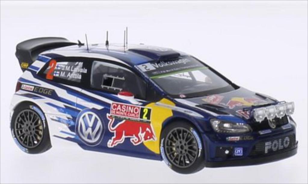 Volkswagen Polo 1/43 Spark R WRC No.2 Motorsport Red Bull Rallye WM Rally Monte Carlo 2015 /M.Antilla coche miniatura