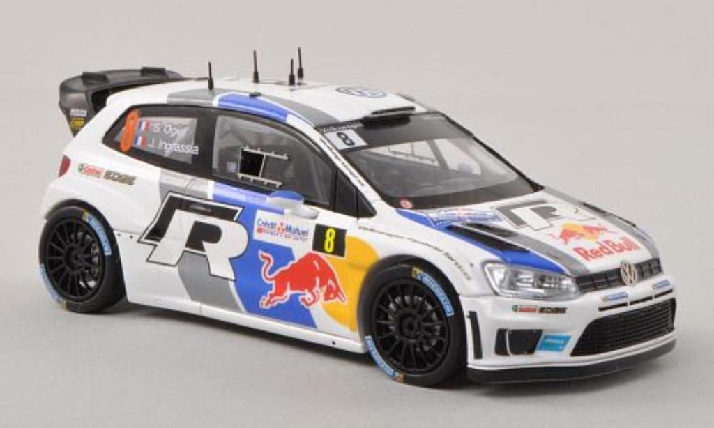 Volkswagen Polo 1/43 Spark R WRC No.8 Rally Frankreich 2013 /J.Ingrassia modellino in miniatura