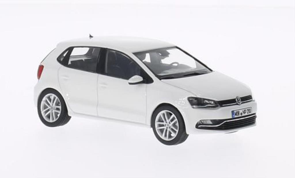Volkswagen Polo 1/43 Herpa V (6C) blanche 5-Turer 2014 miniature