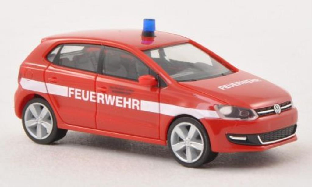 Volkswagen Polo 1/87 Herpa V (6R) Feuerwehr Frankfurt 5-Turer miniature