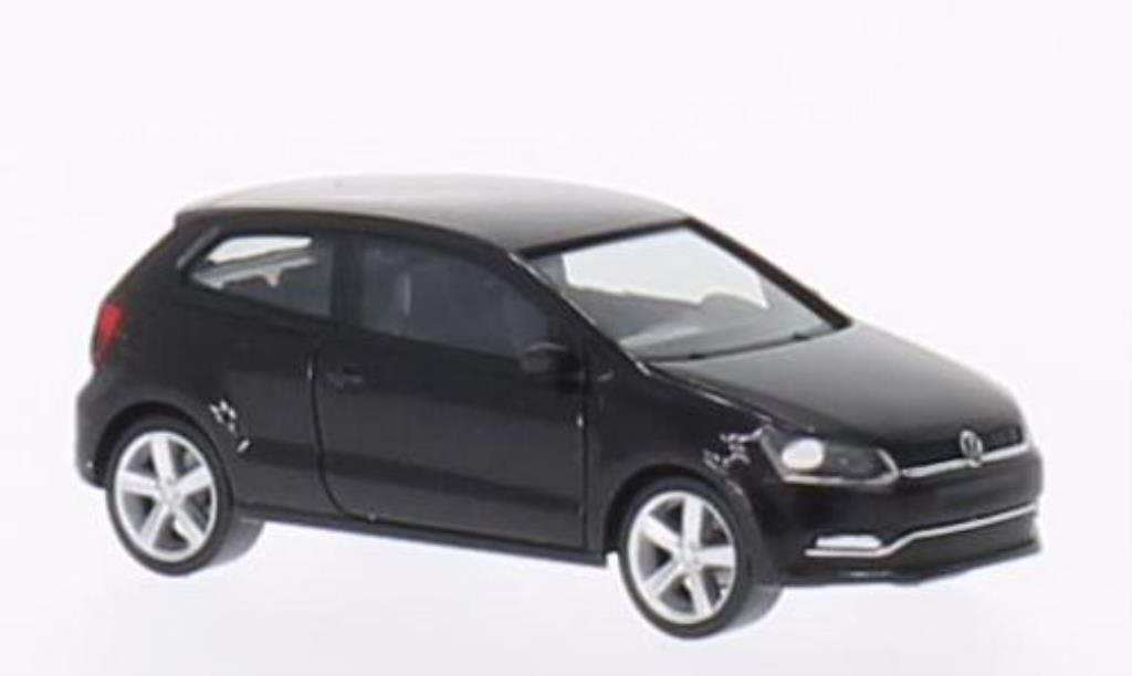 Volkswagen Polo 1/87 Herpa V (Typ 6C) 3-turig black 2014 diecast model cars