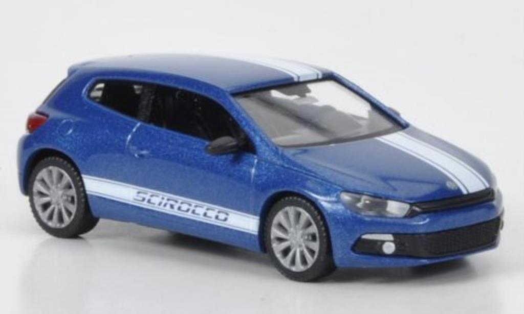 Volkswagen Scirocco 1/87 Wiking III bleu/blanche miniature