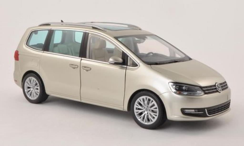 Volkswagen Sharan 1/18 Minichamps II grise-beige 2010 miniature