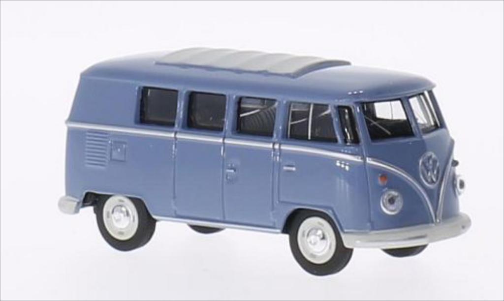 Volkswagen T1 1/64 Schuco Bus bleu miniature