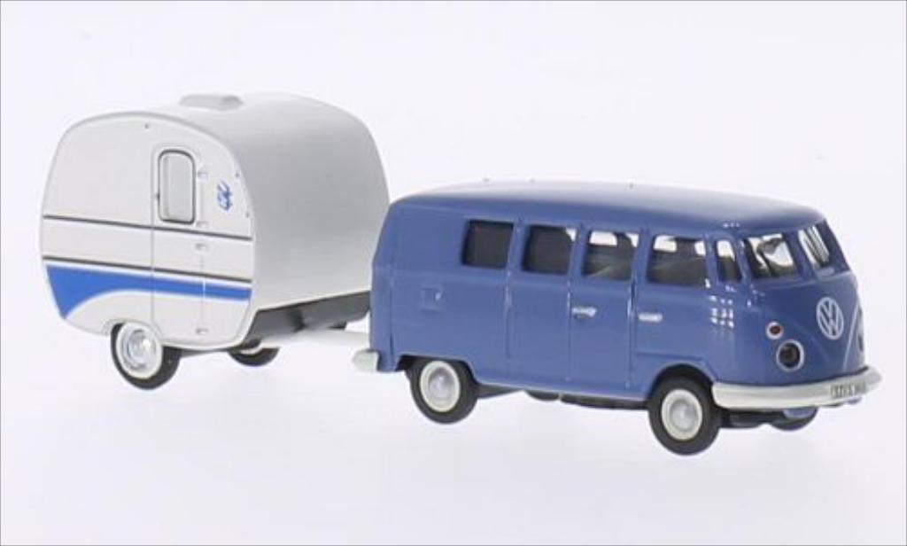 Volkswagen T1 1/87 Schuco Bus bleu miniature