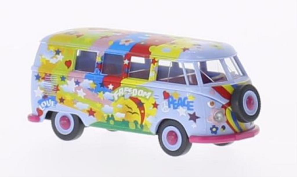 Volkswagen T1 1/87 Wiking Bus Flower Power modellautos