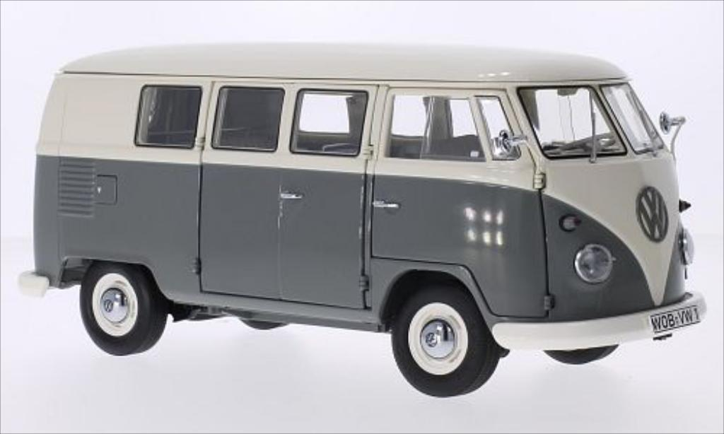Volkswagen T1 1/18 Schuco Bus blanche/grise 1959 miniature