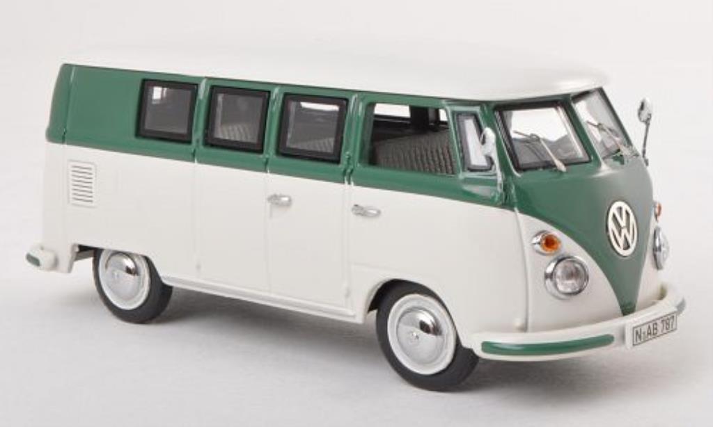 Volkswagen T1 1/43 Schuco Bus bianca/verde miniatura