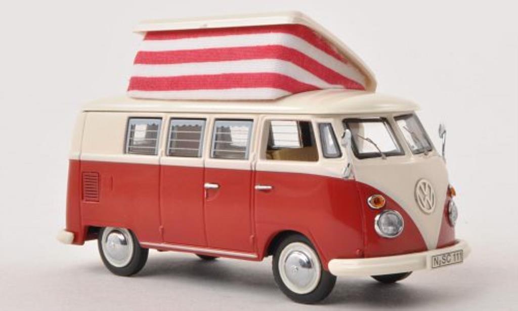 Volkswagen T1 1/43 Schuco Campingbus rouge/blanche miniature