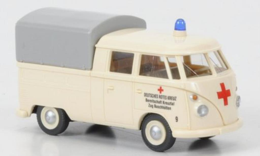 Volkswagen T1 1/87 Wiking Doppelkabine DRK Buschhutten diecast