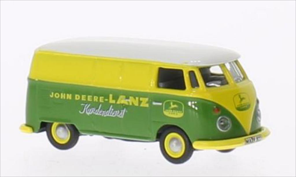 Volkswagen T1 1/87 Schuco Kasten John Deere- Lanz Kundendienst miniature